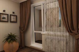 Выбор ткани для штор на окно с балконной дверью