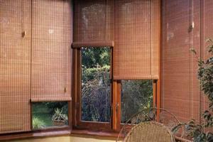 Использование бамбуковых штор